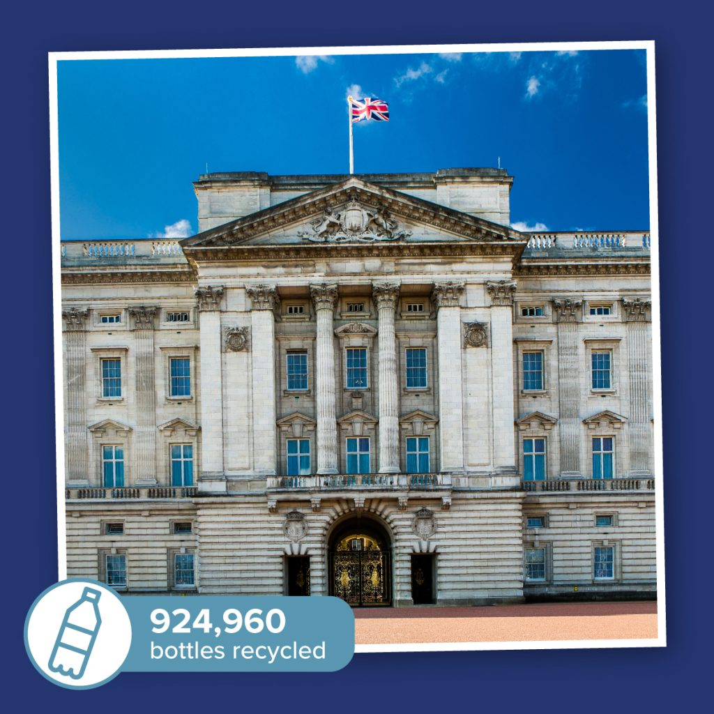 Buckingham Pal-astic: Buckingham Palace, Hogwarts and No. 10 could re-use millions of plastic bottles from the ocean